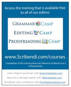 Scribendi Training Courses