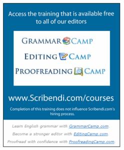 Scribendi Training Courses