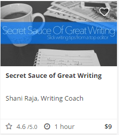 Secret Sauce of Great Writing Course