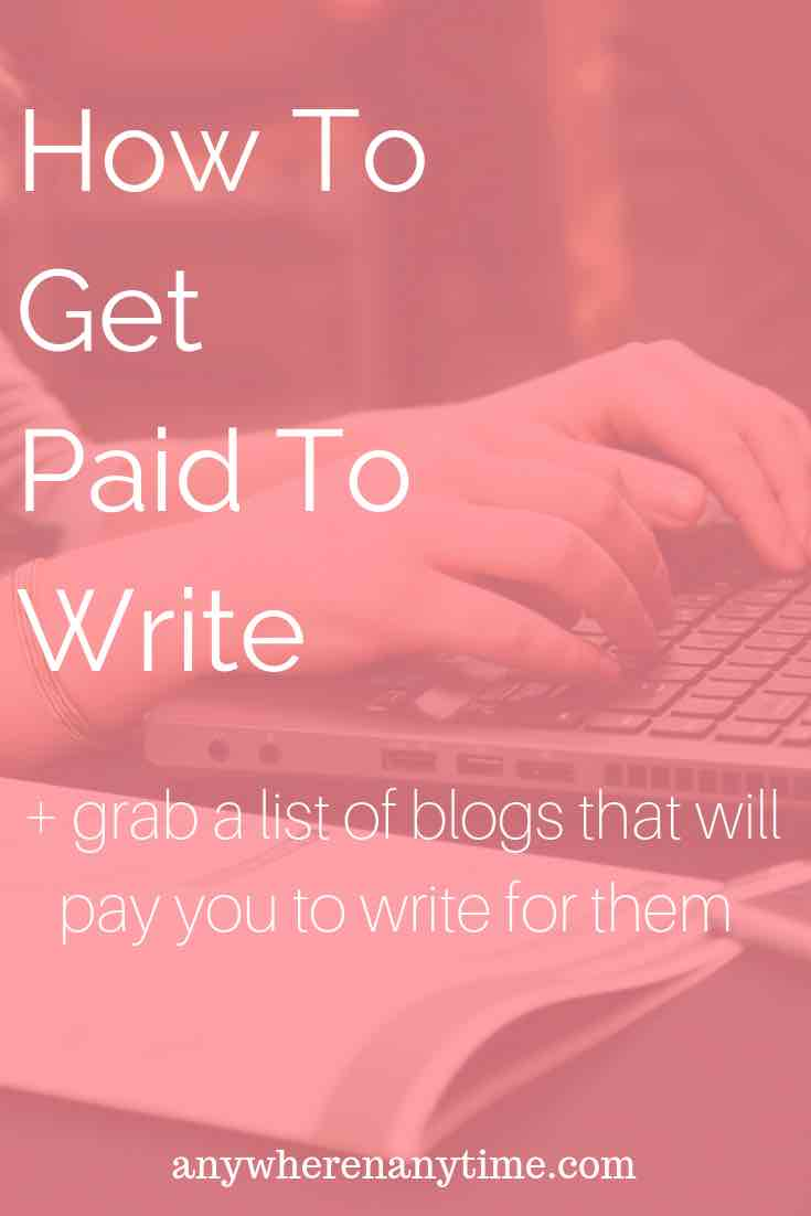 Do you love to write? Did you know that websites will pay you to write for them? Find out how you can start making money with your writing, plus grab a list of blogging gigs that pay at least $50!
