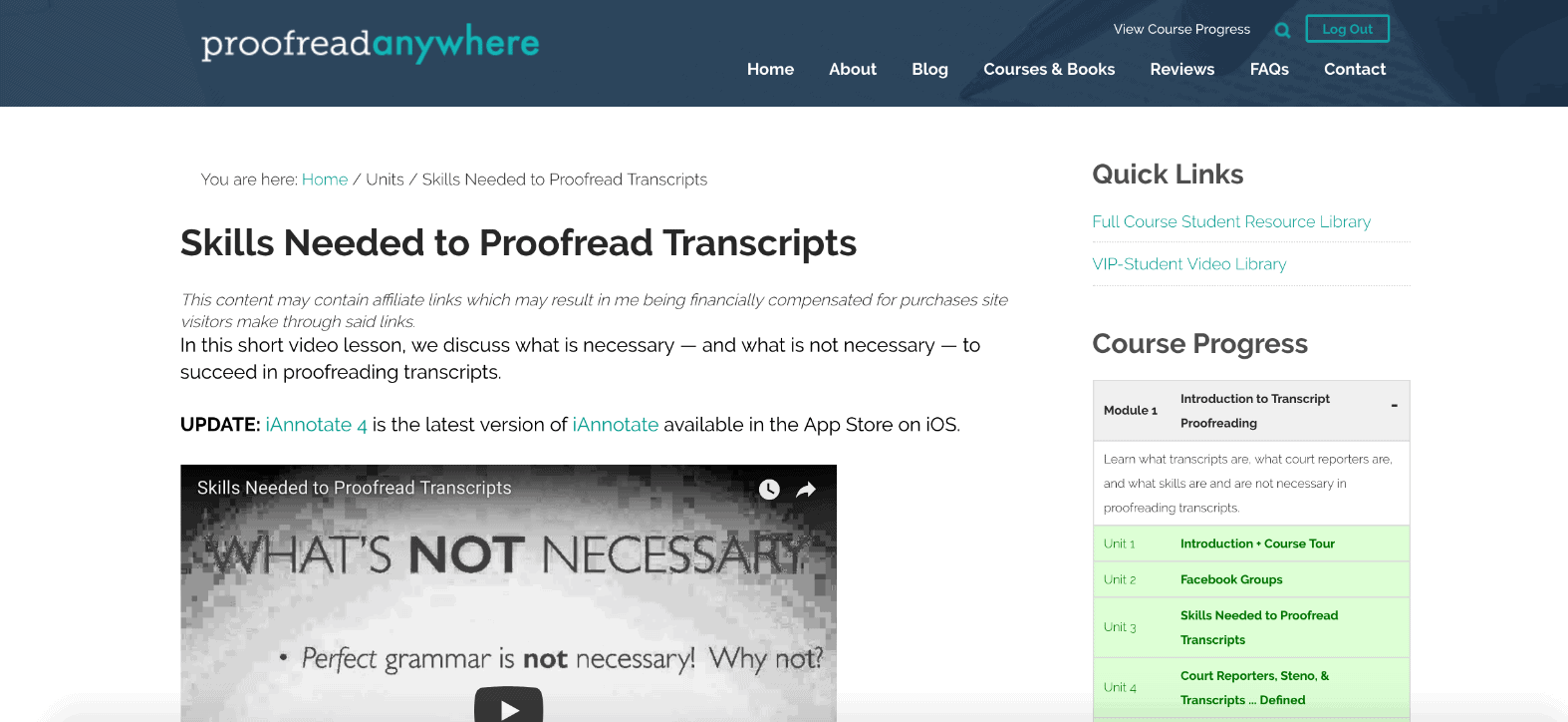 Proofread Anywhere course screenshot