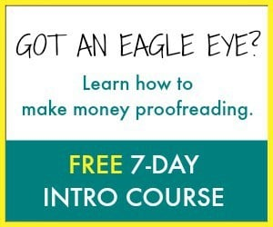 Free 7 day course on Proofread Anywhere