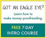 Free 7 day course on Proofreading Anywhere
