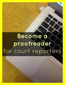 Court transcript proofreading course