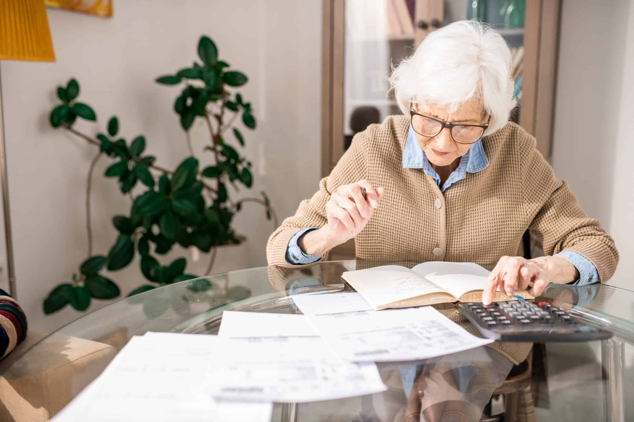 Senior Woman Bookkeeping