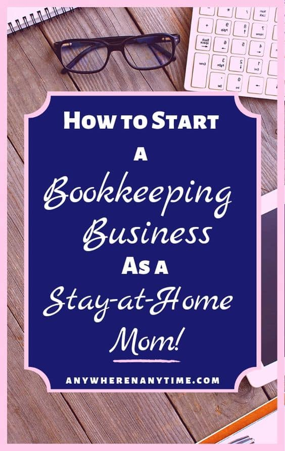 Are you ready to start a bookkeeping business from home? Maybe your are intrigued by the idea of starting your own business as a way to make extra money? Either way bookkeeping could be the answer your are looking for. Find out all about starting and launching your own bookkeeping business as a stay-at-home mom. #bookkeeping #makemoneyfromhome #makemoneyonline #startyourownbusiness
