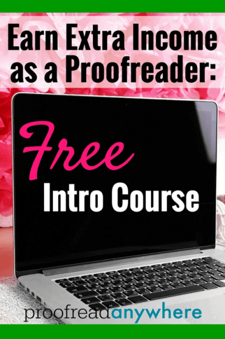 Free 7-Day Intro Course for Proofreaders