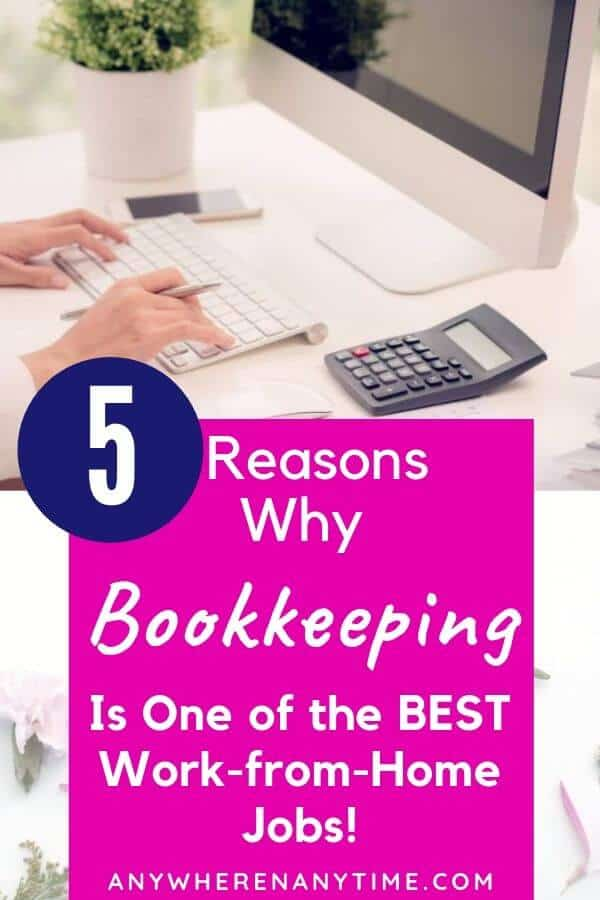 Remote bookkeeping is hands down one of the best work-at-home careers to choose! (And you don't need to be a CPA!) These are the top five reasons a virtual bookkeeping career might be right for you!