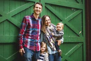 """The Healthy Work From Home Mom"" Carrie Madormo and her family"
