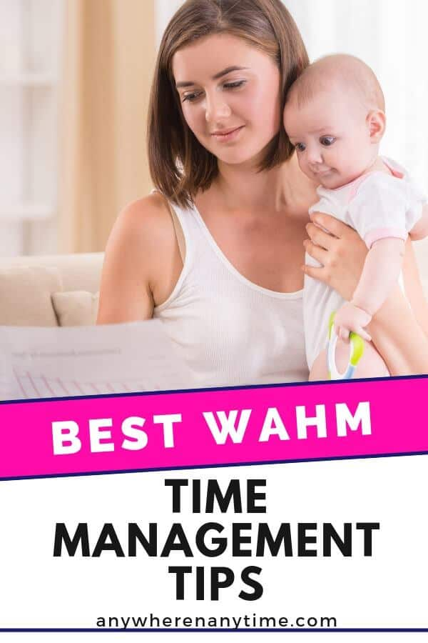 It's not easy being a WAHM (work at home mom!) Here are some of our best time management hacks for getting it all done while looking after the kids! #timemanagement #productivity #workingmomlife