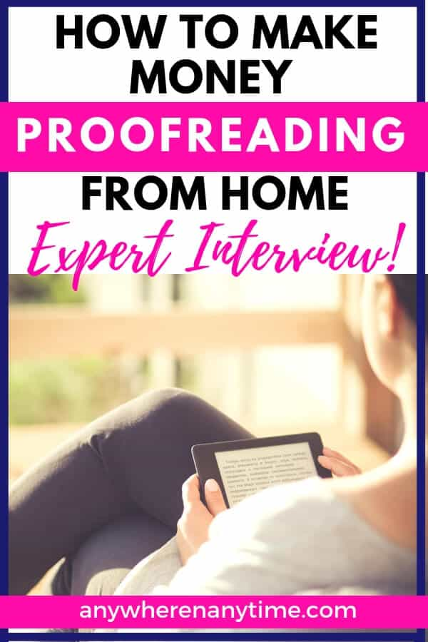 Can you really make money from home by proofreading? In this interview with proofreading expert and entrepreneur Caitlin Pyle, we delve into the best tips for stay at home moms who are interested in becoming proofreaders. #proofreadanywhere #sidehustle #entrepreneur #homebusiness