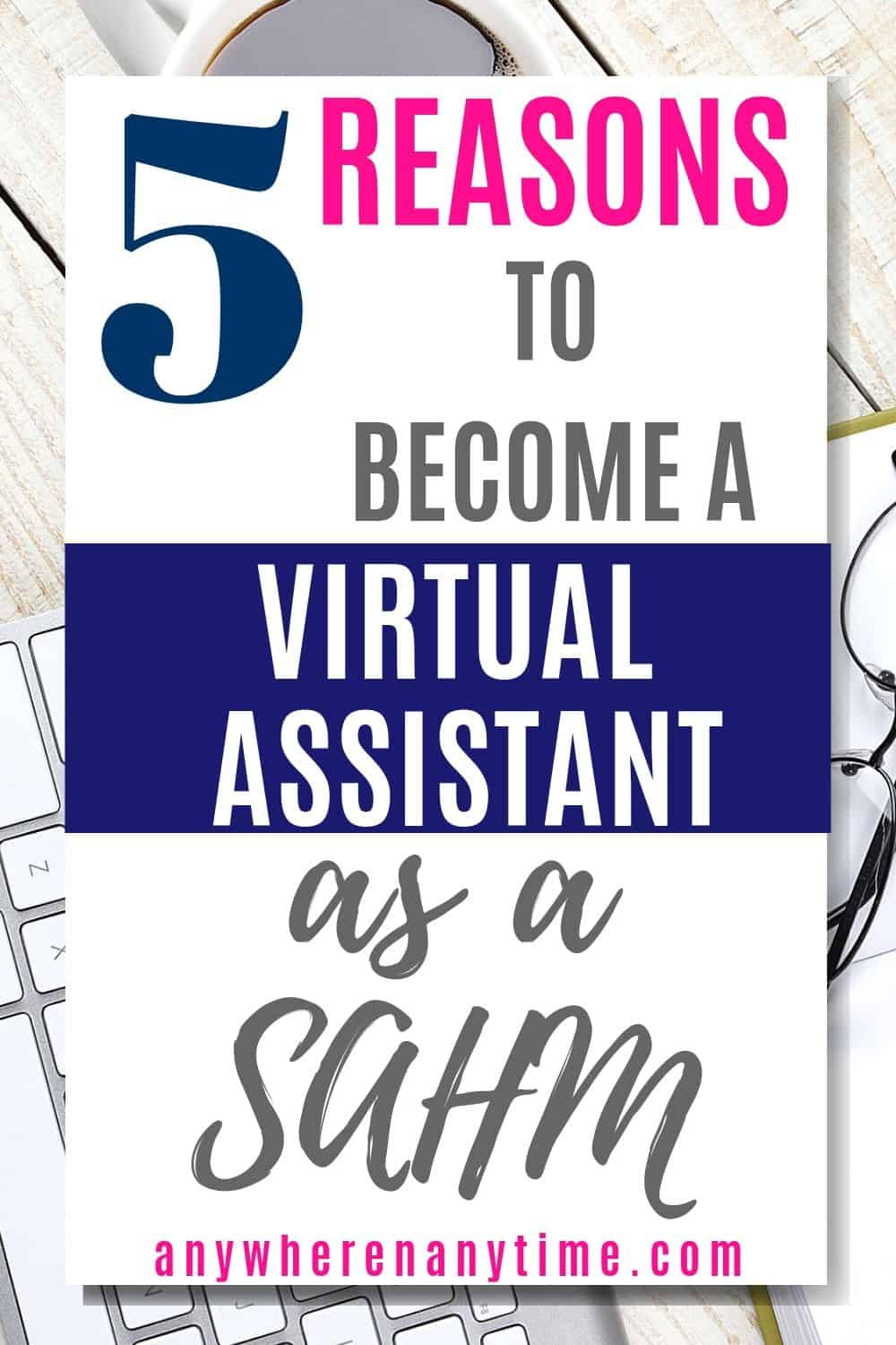 Wondering if you should become a virtual assistant? If you're a stay-at-home mom, virtual assisting could be the best way for you to earn a living online! Here are the 5 signs it's the right opportunity for you.