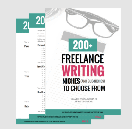 200+ freelance writing niches