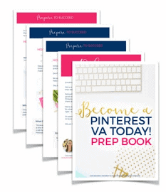 Become a Pinterest VA Today Prep Book