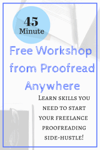 Free Workshop from Proofread Anywhere