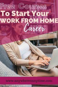 Are you looking for a way you can make a part-time or full-time income from home? Maybe you are looking for a way to make extra money online? Check out these free courses and resources to help you launch a work-from-home career!
