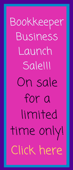 Bookkeeper Business Launch Sale