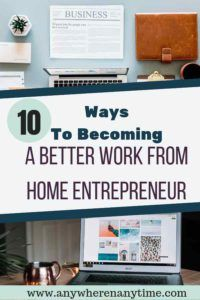 Working from home can seem like the ultimate opportunity but in reality it is a lot of work, especially when you need to stay on task. Find how out 10 steps you can take to become a better work-from-home entrepreneur. #workfromhome #entrepreneur