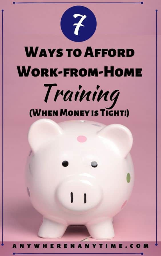 You know of an online training course you're just dying to take, but as a stay-at-home mom, money is tight. Totally been there! That's why we put together these seven actionable tips to help earn money and budget for the work-from-home training you need so you can start generating income while raising your young family! #personalfinance #moneymanagement #workfromhome #entrepreneur #budgeting