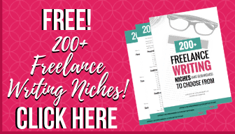Free guide of 200+ freelance writing niches