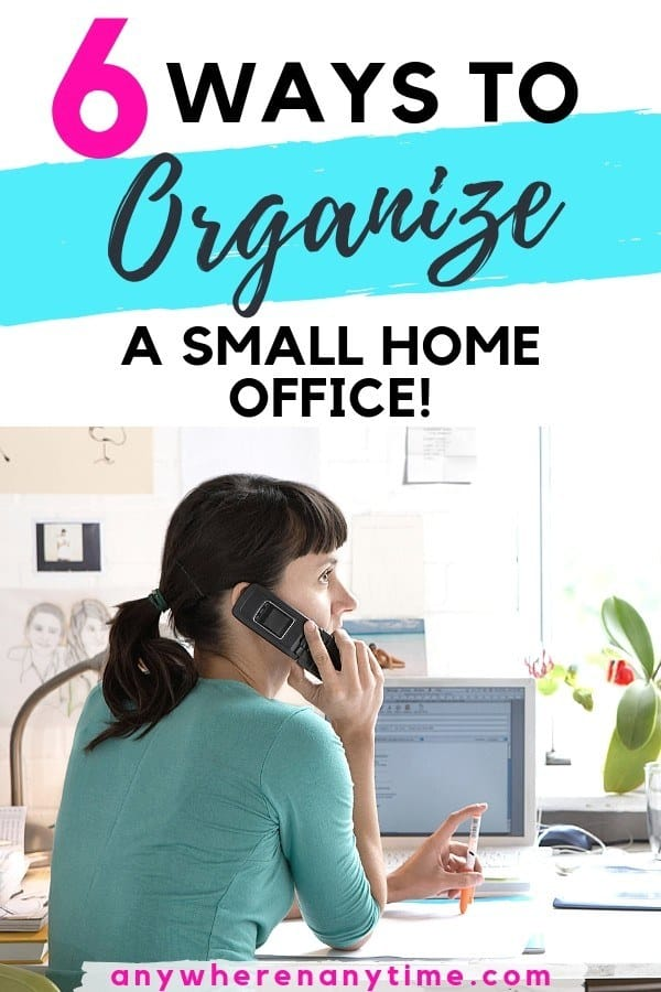 Do you need a few tips and tricks for organizing that small home office? These 6 hacks will declutter your work space and make it comfortable for doing your best work. (Bonus: tips are budget solutions that you can totally DIY!)