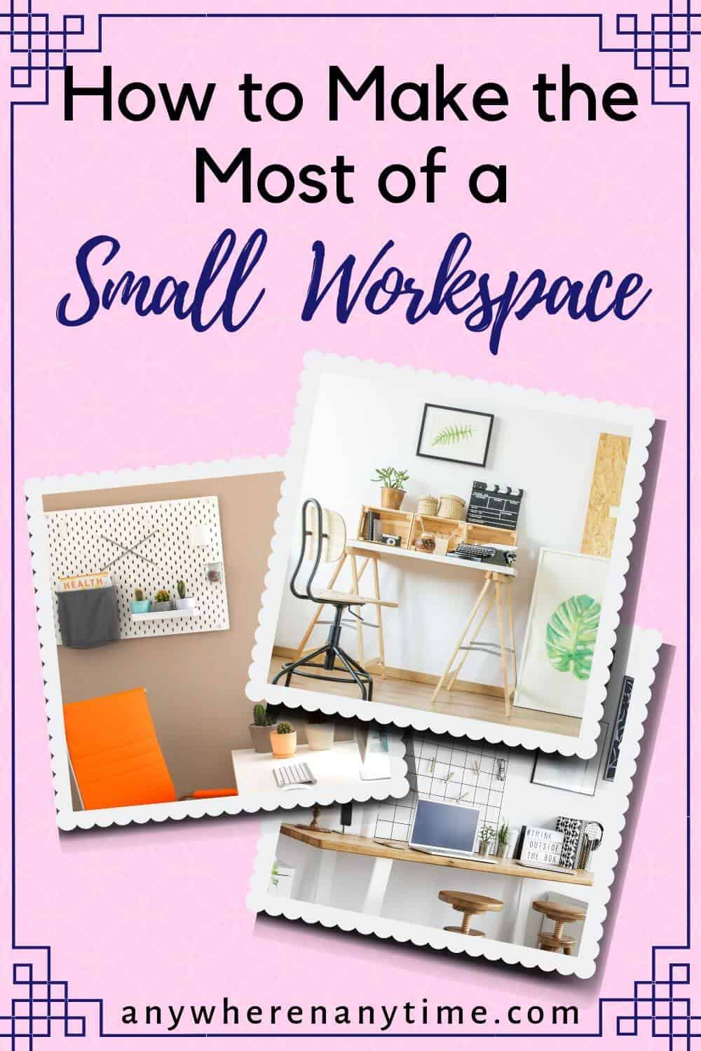 Need some home workspace ideas? Whether you need to convert your living room into a home office, or convert a nook in your house DIY style, these hacks for making the most out of your existing living space will help you to crush it in your business from home!