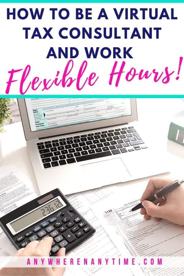 How to be a virtual tax consultant and work flexible hours from home! Our interview with business owner and bookkeeper, Kim Erick, tells you what it's like to offer tax services and how she manages to work far fewer hours per week for more income! #workfromhome #businessideas