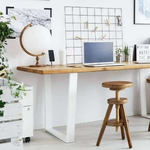 Ideas for making the most of a small home workspace!