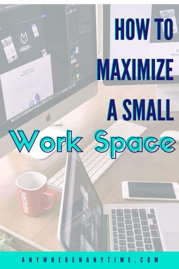 Need to maximize available space? These hacks will help you make the most of a small office! (Hint: There are some awesome ideas for using your vertical space!)