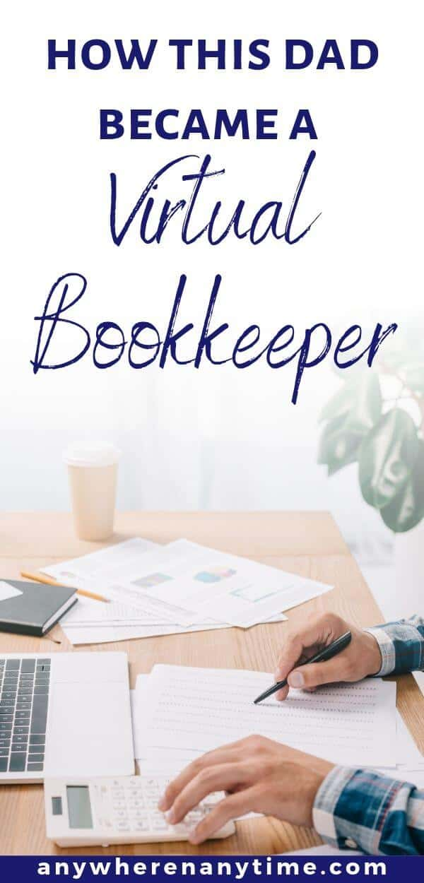 How this dad became a virtual bookkeeper, man working at a desk.