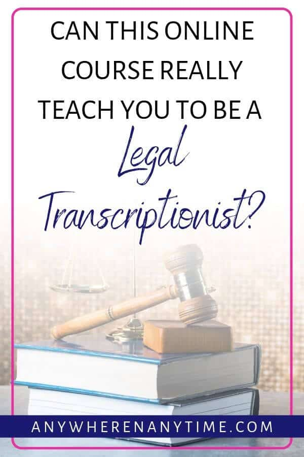 Can this online course really teach you to be a legal transcriptionist?