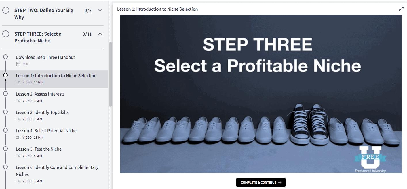 Slide - Step Three: Select a Profitable Niche.