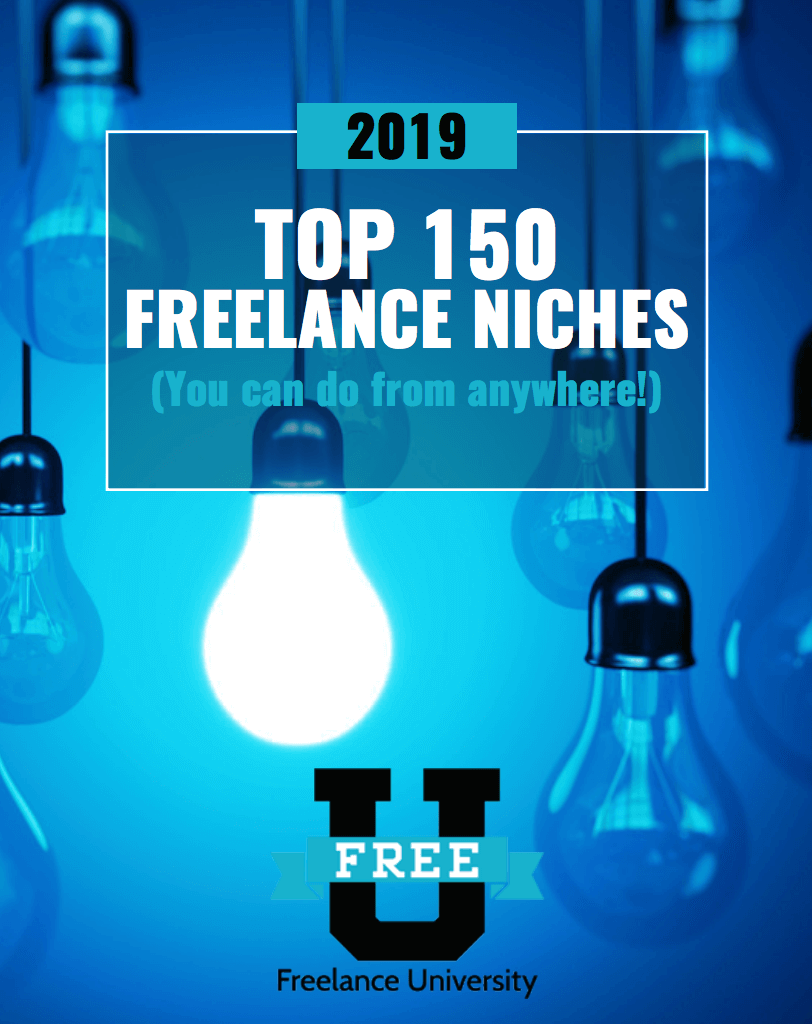 Top 150 Freelance Niches Downloadable Guide.