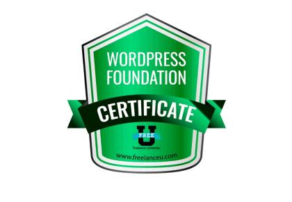 WordPress Certificate of Completion badge
