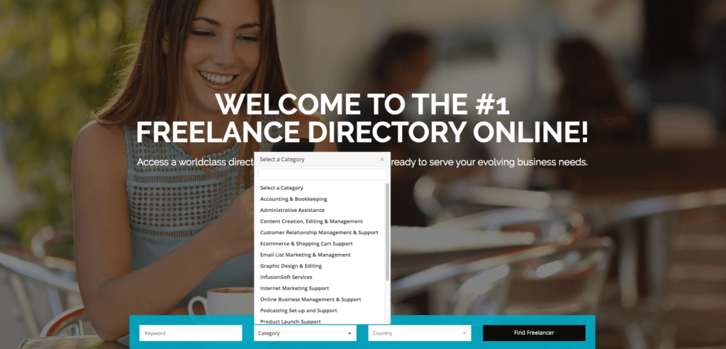 Students can set up a profile on the Freelance U Directory