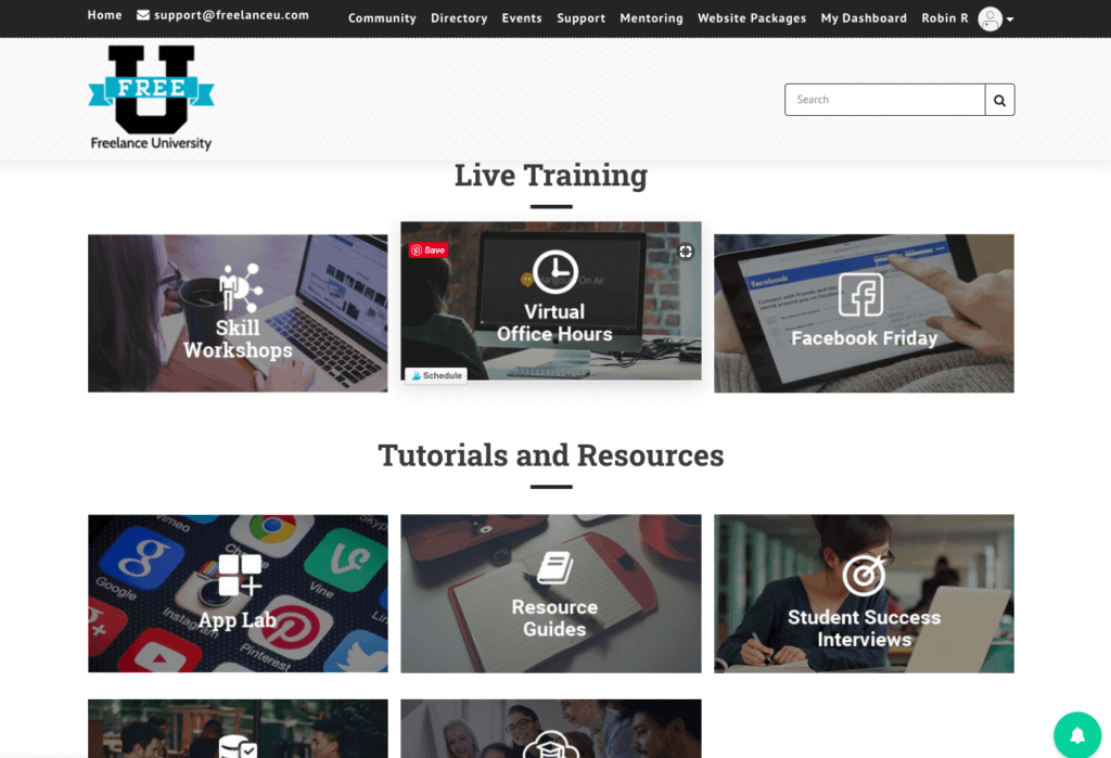 All live training replays can be accessed from the student's dashboard.