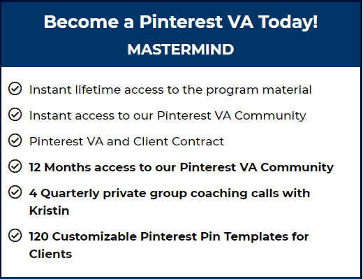 become a pinterest VA mastermind