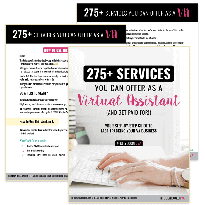 fully booked VA checklist fasttrack your VA business kit