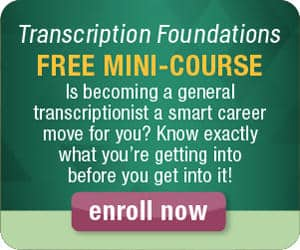 learn to be a transcriptionist free mini course