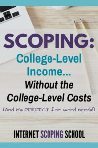 scoping online course